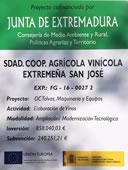 Cartel subvención Junta de Extremadura